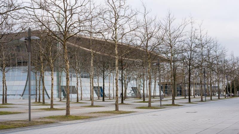 Plaza dell'Expo sulla zona fieristica di Hannover immagine stock libera da diritti