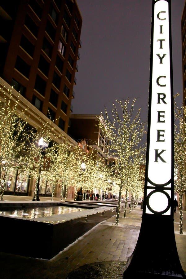 Plaza dell'insenatura della città a Salt Lake City 2 immagine stock