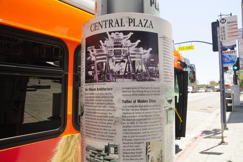 Plaza della centrale della città di Los Angeles Cina immagini stock libere da diritti