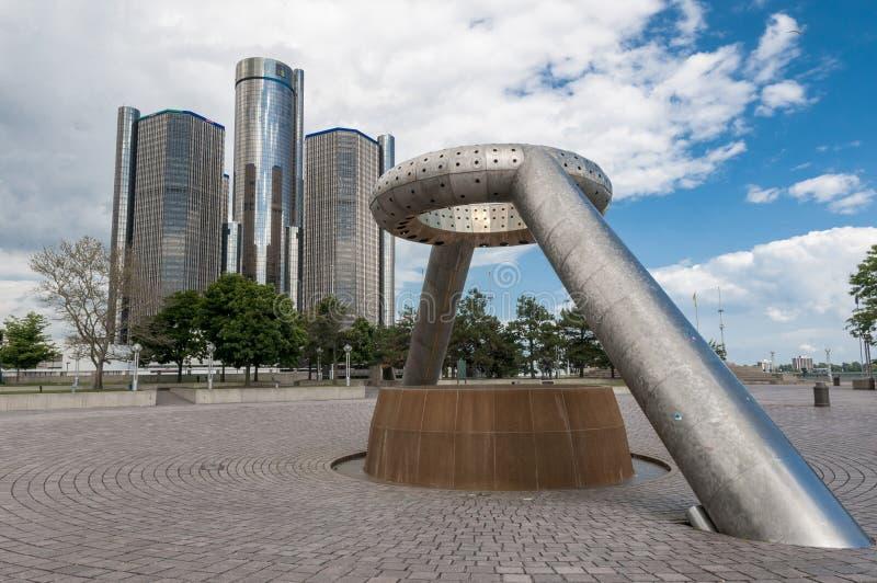 Plaza Detroit del ciervo fotografía de archivo libre de regalías