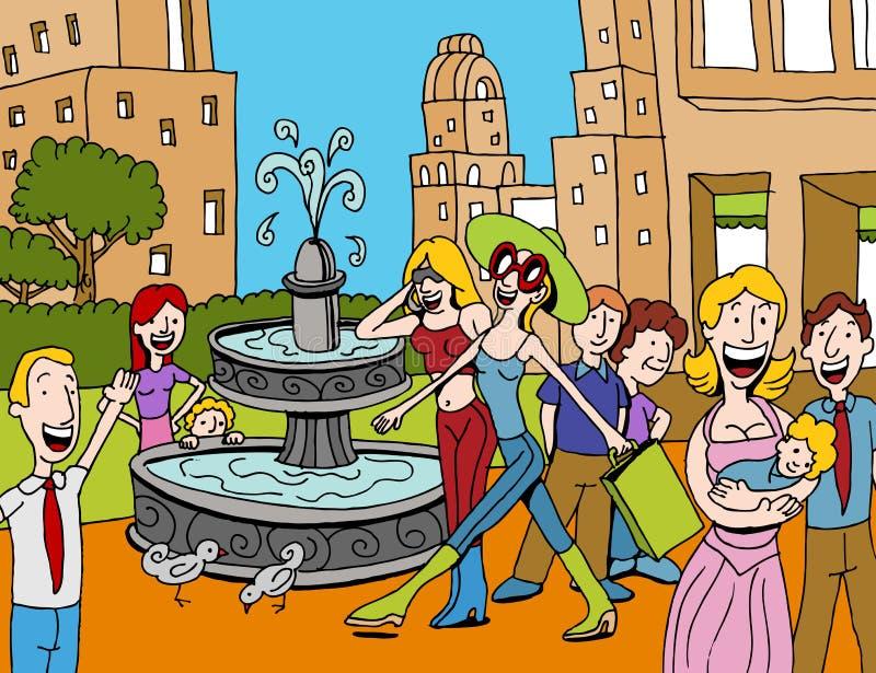 Plaza di acquisto illustrazione di stock