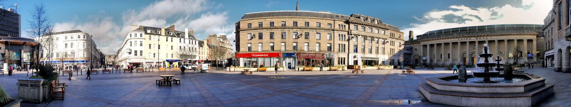 Plaza di Caird Corridoio a Dundee, Scozia fotografia stock libera da diritti