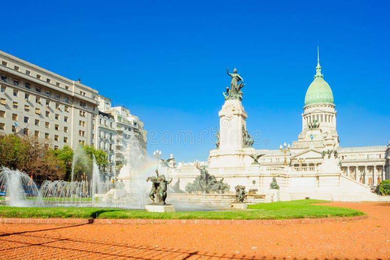 Plaza do congresso, Buenos Aires fotografia de stock