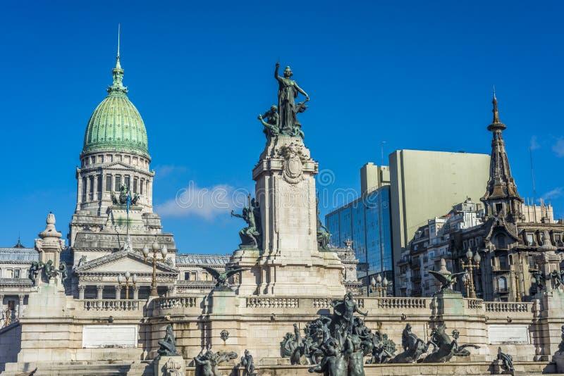 Plaza do congresso em Buenos Aires, Argentina fotografia de stock
