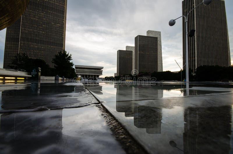 Plaza do estado do império, Albany, NY fotografia de stock royalty free