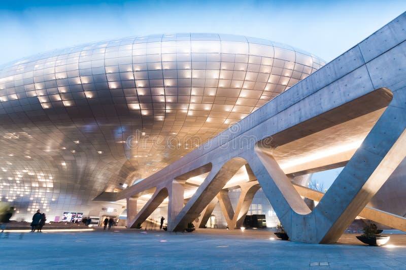 Plaza do projeto de Dongdaemun foto de stock