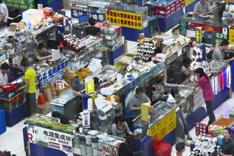 Plaza electrónica de Huaqiang fotos de archivo libres de regalías