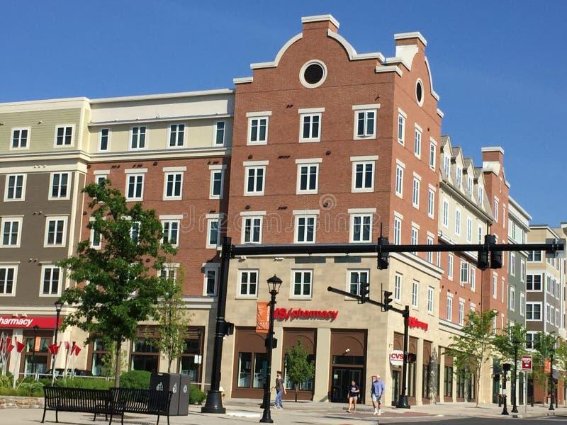 Plaza en la universidad de Connecticut ( UConn) en Storrs, Connecticut foto de archivo libre de regalías