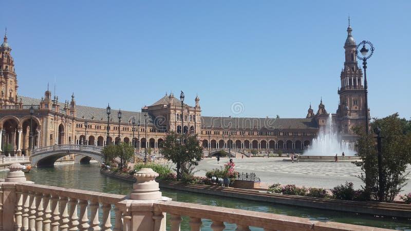 Plaza España, Seville, Spanien royaltyfri bild