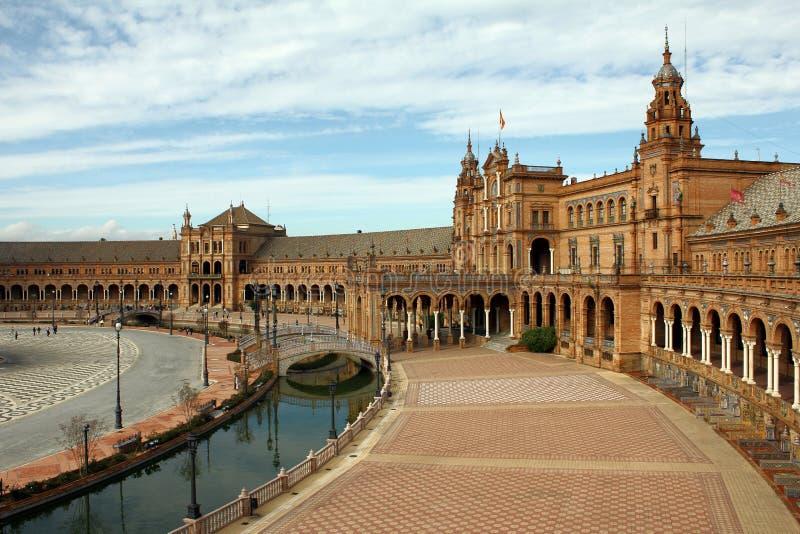 Plaza España ( Sevilla) imagens de stock royalty free