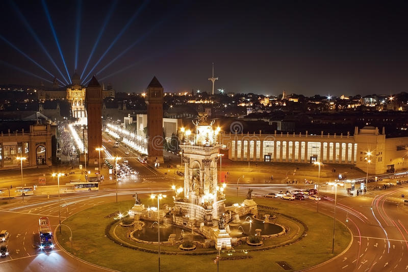 Plaza Espana en Barcelona imagen de archivo libre de regalías