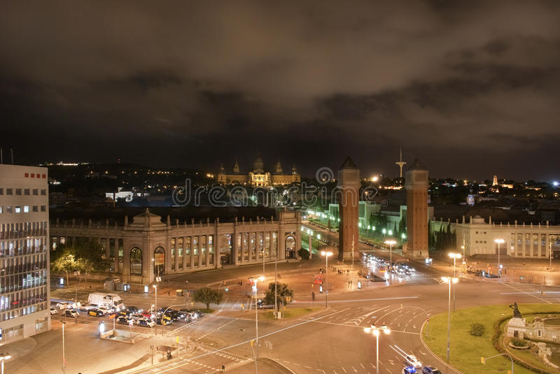 Plaza Espanya photo stock