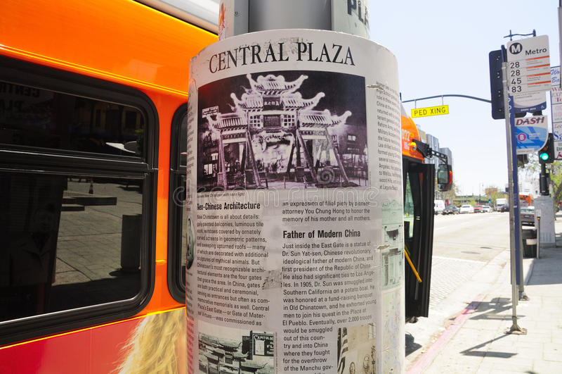 Plaza för Los Angeles Kina stadcentral royaltyfria bilder