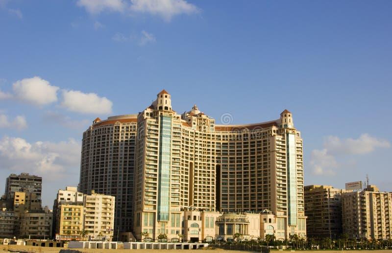 Plaza grande de San Stefano, Alexandrea, Egypte photo libre de droits