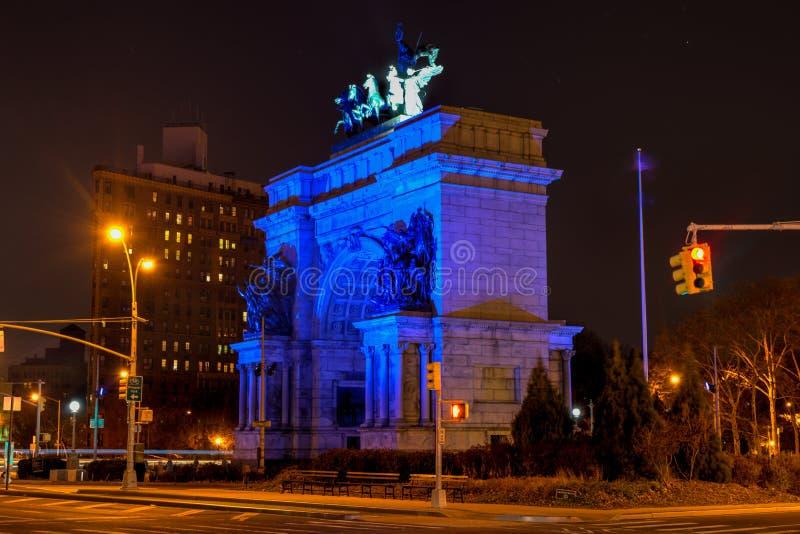 Plaza grande do exército, Brooklyn, New York foto de stock