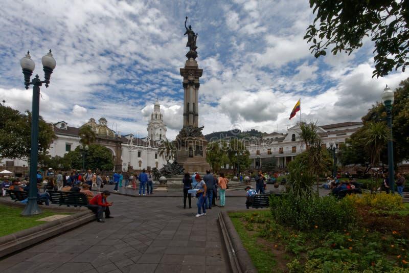 Plaza grande en Quito, Ecuador imagen de archivo libre de regalías