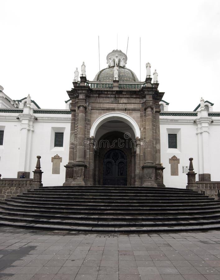 Plaza grande Quito Ecuador de la catedral imagen de archivo