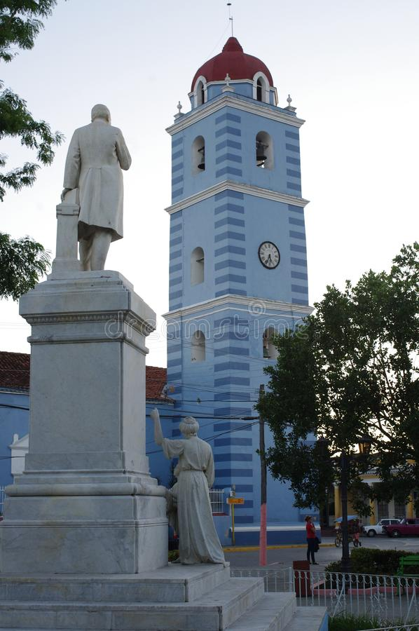 Plaza Honorato dans Sancti Spiritus, Cuba photographie stock libre de droits