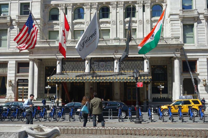 Plaza Hotel in New York City royalty free stock photo