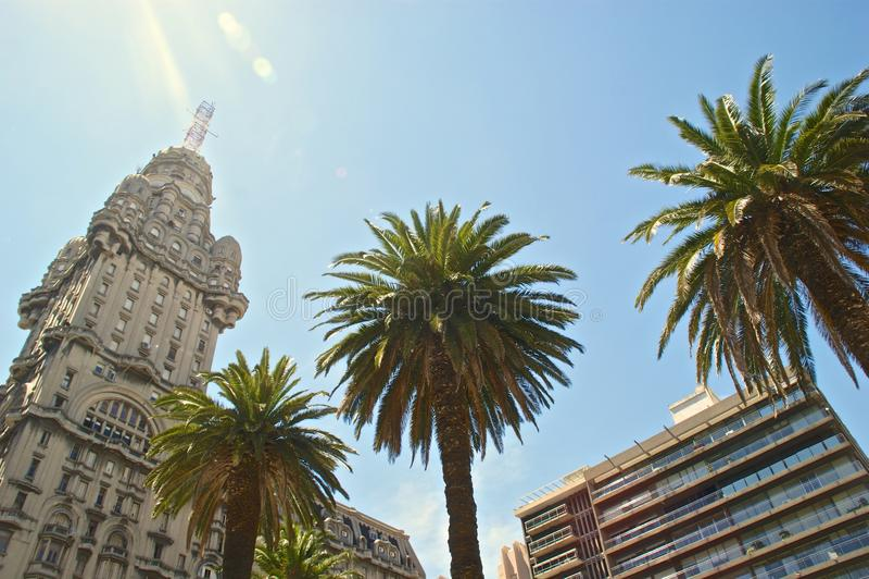 Plaza Indepencia, Montevideo, Uruguay royaltyfri bild