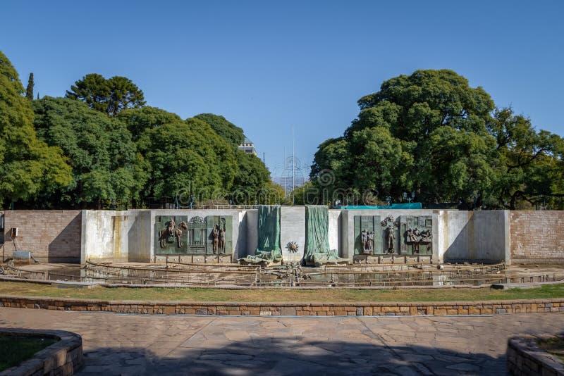 Plaza Independencia imagen de archivo