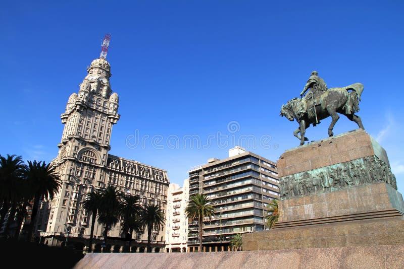Plaza Independencia em Montevideo fotografia de stock royalty free
