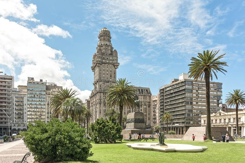 Plaza Independencia Montevideo foto de stock