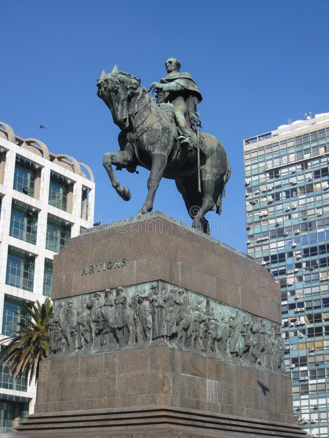 Plaza Independencia Montevideo image libre de droits