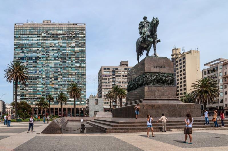 Plaza Independencia Montevideo, Uruguay fotografia stock