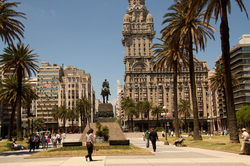 Plaza Independencia, Montevideo, Uruguay stock image