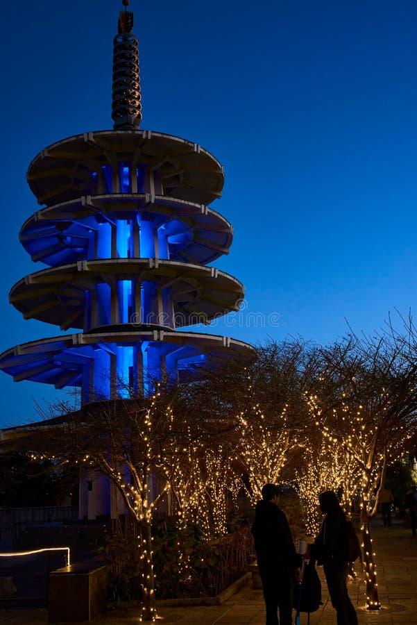 Plaza Japantown di pace immagine stock