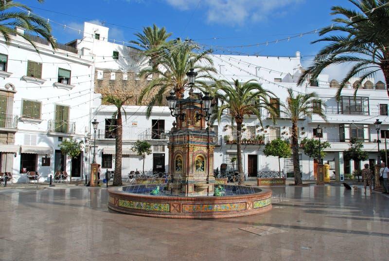 Plaza, la Frontera de Vejer de fotografía de archivo libre de regalías