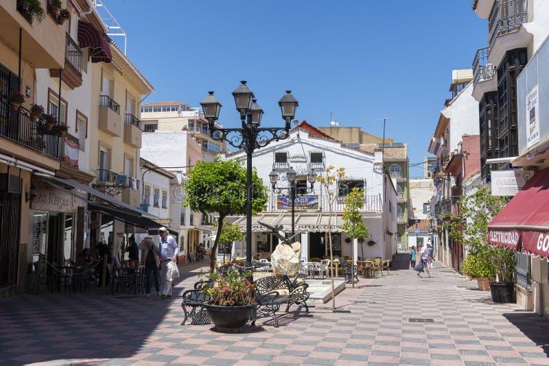 Plaza Marqués de Cardeñosa Fuengirola Espanha imagem de stock royalty free