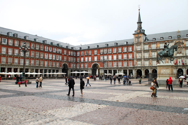 Download Plaza Mayor editorial stock image. Image of city, attraction - 24841044