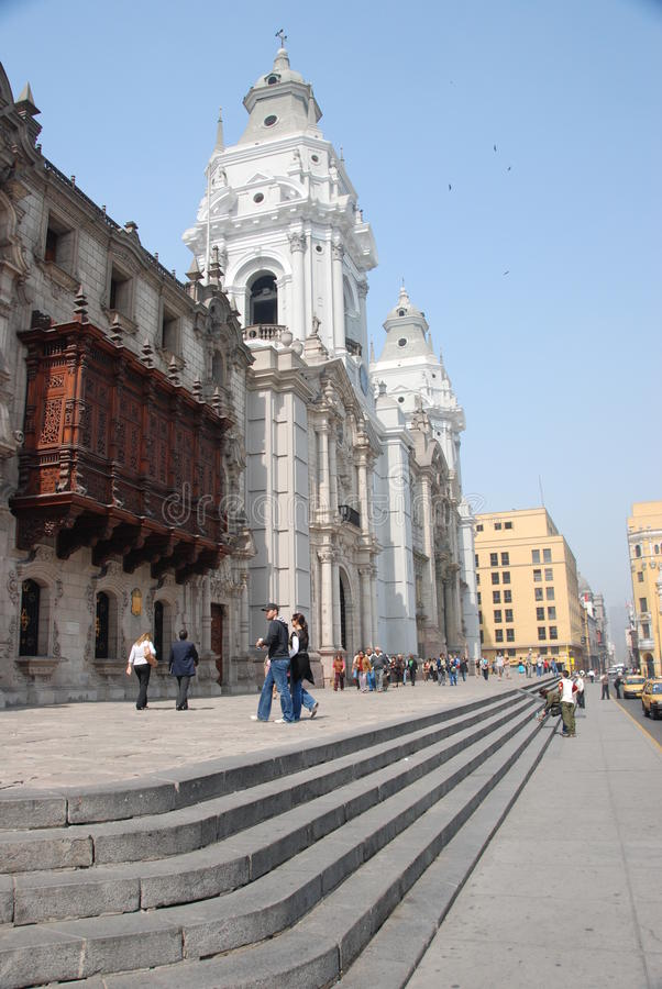Plaza Mayor in Lima, Peru stock photo