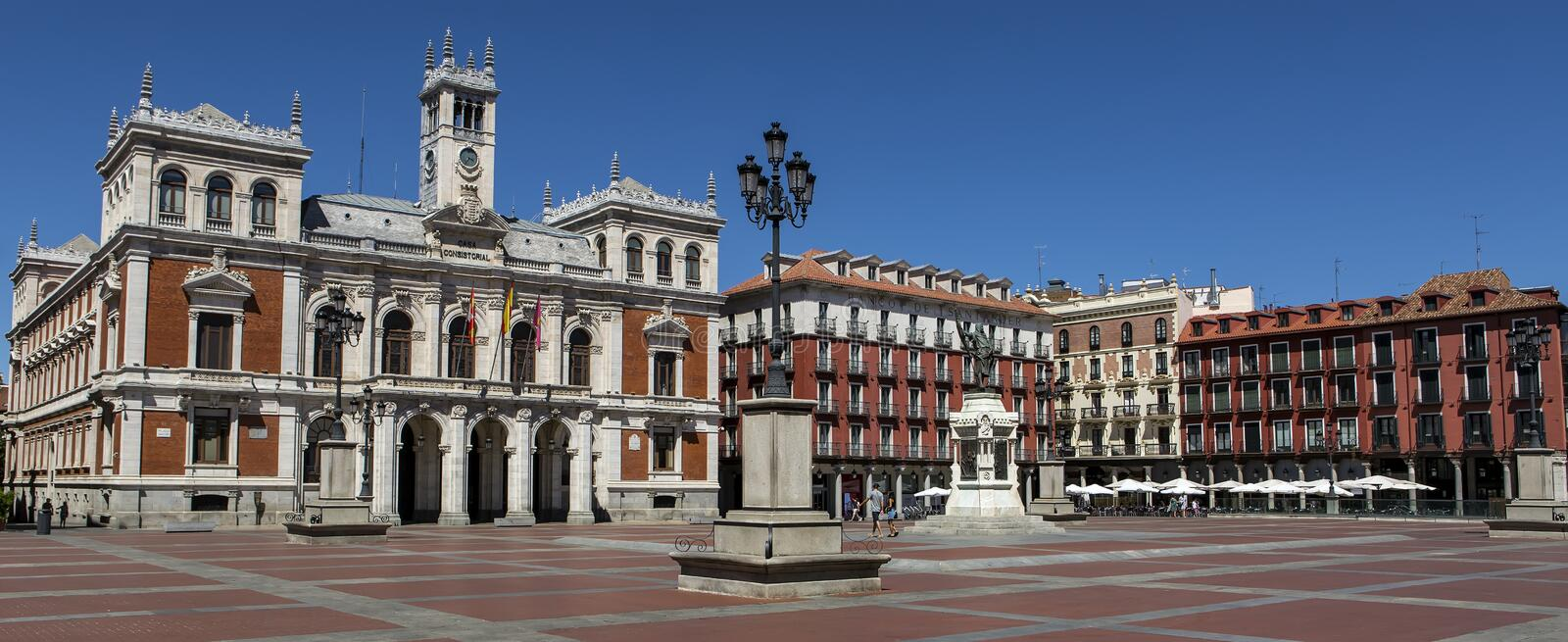 Plaza Mayor Major Square of Valladolid, Spain. stock image