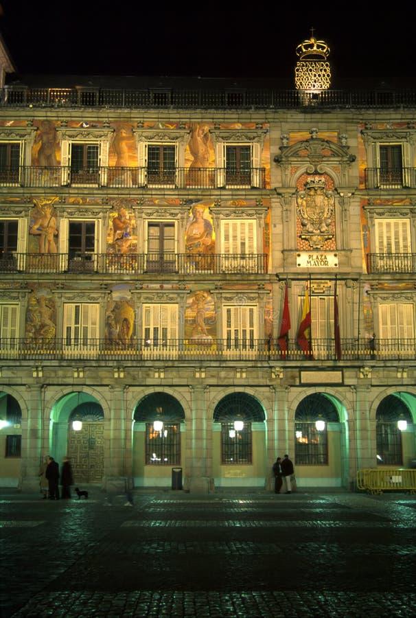 Plaza Mayor, Night stock image