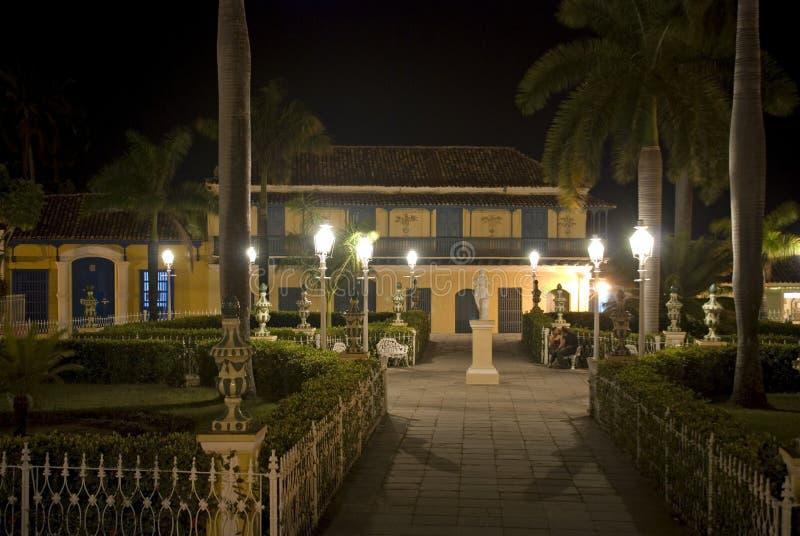 Plaza Mayor by night, Trinidad, Cuba royalty free stock photos
