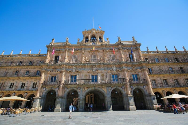 The Plaza Mayor in Salamanca, Spain stock photos