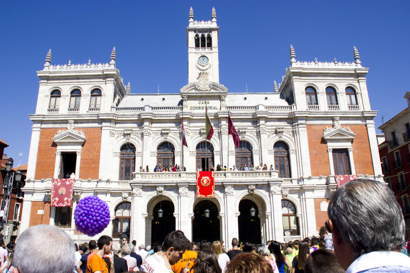Plaza Mayor In Valladolid Editorial Stock Image