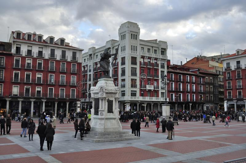 Plaza Mayor of Valladolid, Spain royalty free stock photography