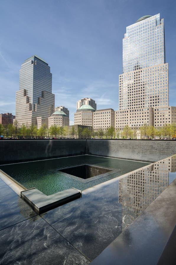Plaza memorável, opinião da fonte, New York fotografia de stock