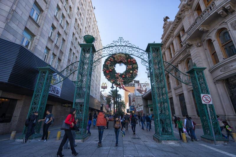 Plaza Morelos Μοντερρέυ Μεξικό στοκ φωτογραφία με δικαίωμα ελεύθερης χρήσης