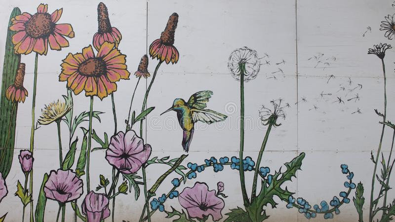 Plaza mural, bispo Arts District, Dallas, Texas fotografia de stock royalty free