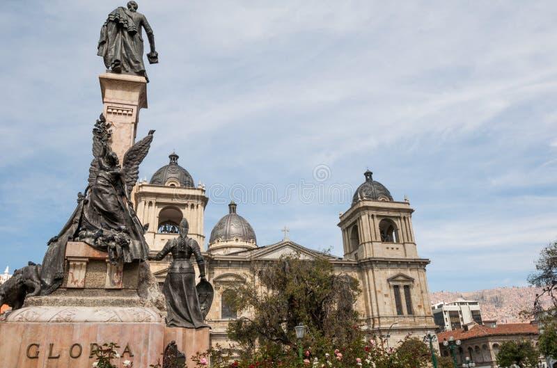 Plaza Murillo no La Paz, Bolívia fotos de stock