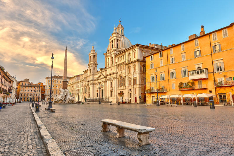 Plaza Navona en Roma imagen de archivo