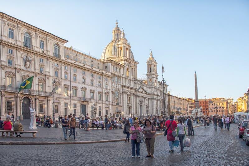 Plaza Navona en Roma, Italia foto de archivo