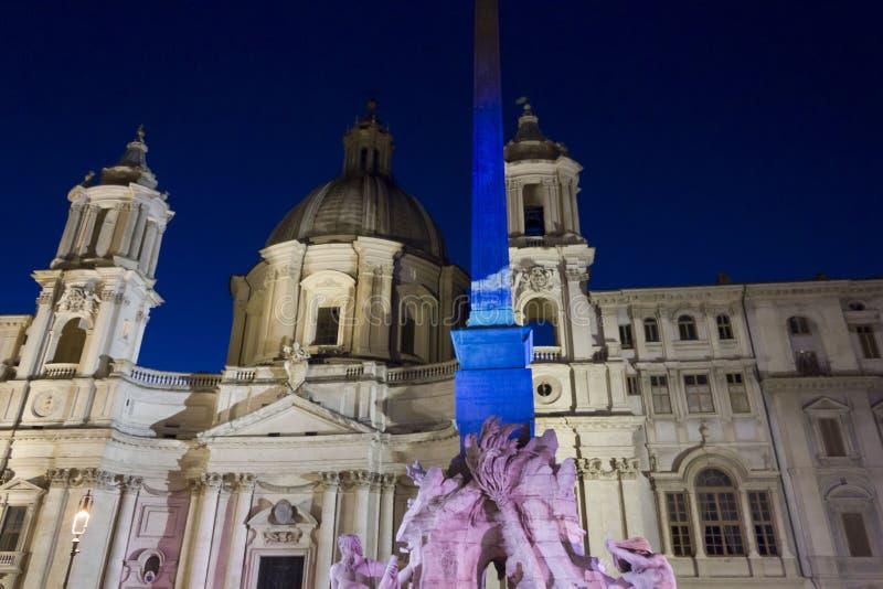 Plaza Navona una Roma imagen de archivo libre de regalías