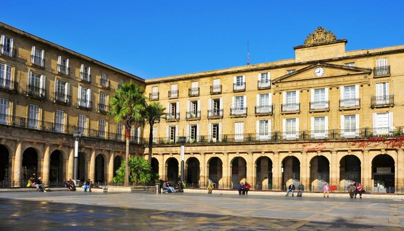 Plaza Nueva em Bilbao, Spain fotos de stock