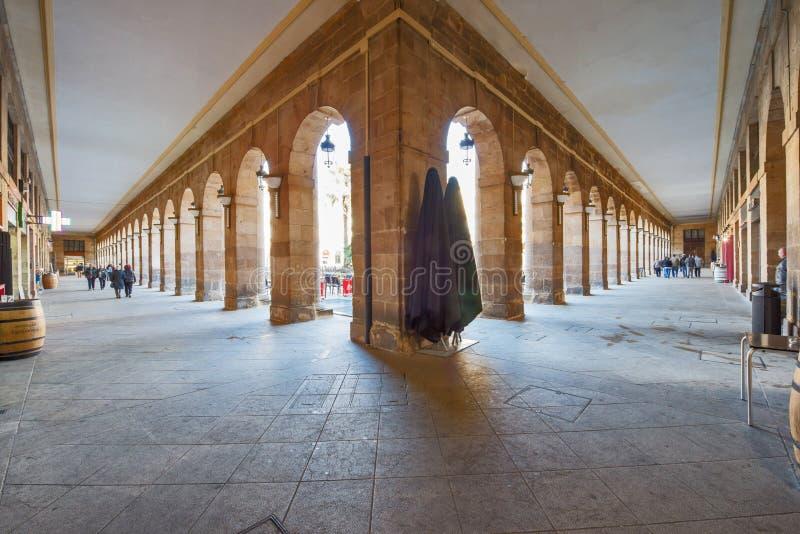 Plaza Nueva en Bilbao fotos de archivo